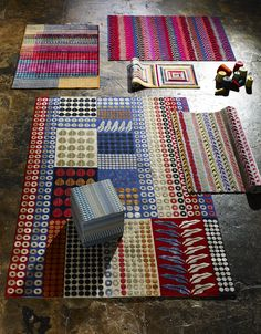 Bespoke Margo Selby Hand Knotted and Hand Carved Wilton Rugs.