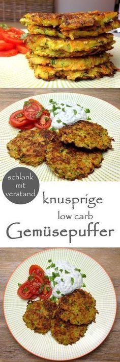 low carb knusprige Gemüsepuffer Rezept #lowcarb #keto #lchf #abnehmen #abnehmen2018 #food #fitnessfood #healthyfood #ernährung #ernährungsumstellung #rezept #deutsch #lifestyle
