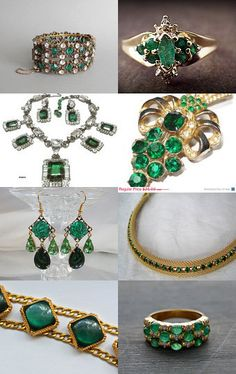 #Emerald Dreams … bring on the #holiday festivities! #vintage #jewelry #Vrba