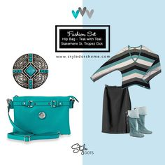 Hip Bag - Teal with Teal Statement St. Tropez Dot. #styledots https://shanette.styledotshome.com/products/new-releases-statement-line/teal-statement-st-tropez