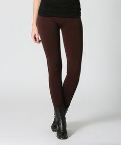 Look at this #zulilyfind! Brown Seamless Leggings #zulilyfinds
