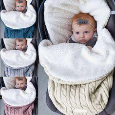Nuevo saco de dormir de bebé de invierno de terciopelo tejido Crochet  caliente niños ropa de 13d70e036fe