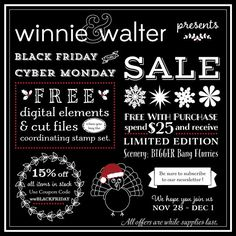 winnie & walter blog: About Our First Black Friday/Cyber Monday Sale!