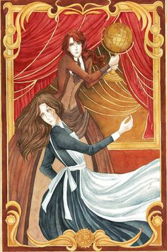 """Tessa Gray and Miranda from The Infernal Devices by Cassandra Clare""""With a strength she didn't know she possessed, Tessa seized the ba..."""
