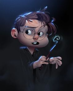 Drawing of Harry Potter. Big fan of the books and the movies, so been wanting to draw something HP for a long while now! Yer a wizard Harry