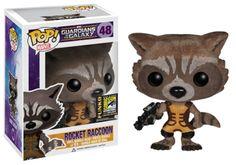 Guardians of the Galaxy POP! Vinyl Figure Rocket Raccoon Flocked SDCC Exclusive 10 cm