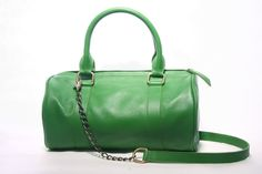 KELLY GREEN  Duffle Leather Bag by marchandcovenant on Etsy, $112.00