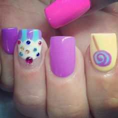 Cupcake and lollipop nails by my awesome nail tech Gabbi