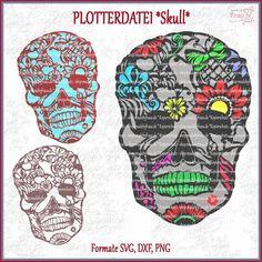 Plotterdatei Skull Totenkopf Mandala Style
