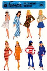 Pattern for Barbie and  Francie Doll Clothes - 8531