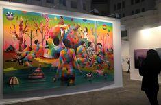 Abstract Painting Okuda San Miguel Art Madrid