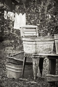 Old school laundry day