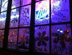 Xmas lights at 7B bar Loisaida NYC (far East Village)