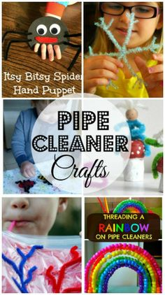 Here is a list of fun pipe cleaner crafts for kids to make! They are easy and cheap to do. Crafts For Kids To Make, Craft Activities For Kids, Preschool Crafts, Projects For Kids, Fun Crafts, Craft Projects, Kids Diy, Daycare Crafts, Craft Ideas