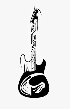Tribal Guitar by devilanonymous Music Drawings, Music Artwork, Art Drawings Sketches, Guitar Drawing, Guitar Art, Music Tattoos, Body Art Tattoos, Foot Tattoos, Sleeve Tattoos