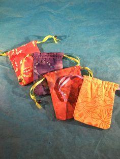 A personal favorite from my Etsy shop https://www.etsy.com/listing/385582090/batik-4-pack-mini-drawstring-bags