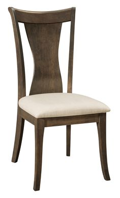 Amish Wellsburg Dining Chair An hour glass shaped chair back offers an elegant and natural design for your contemporary dining room.
