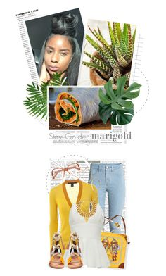 """""""Stay Golden: Dressing in Marigold"""" by crystal85 ❤ liked on Polyvore featuring Marc by Marc Jacobs, GUESS by Marciano, Hermès, A.V. Max, Pierre Hardy, Chloé and marigold"""
