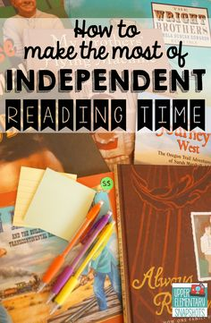 Upper Elementary Snapshots: Making the Most of Independent Reading Time