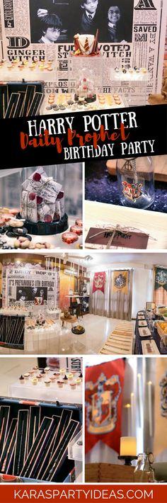 Harry Potter Daily Prophet Birthday Party via Kara's Party Ideas - KarasPartyIdeas.com