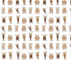 Owl shapes and sizes fabric by mulberry_tree on Spoonflower - custom fabric