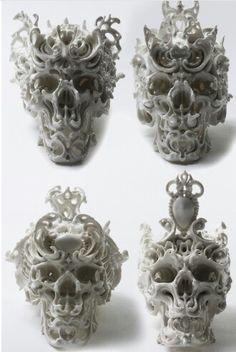 Katsuyo AokiCRYSTAL AND MINERAL SKULLS /ソカロ] / TIBETIAN SKULLS / SKULLS / More Pins Like This At FOSTERGINGER @ Pinterest