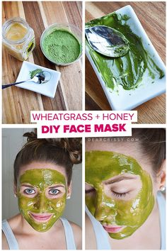 DIY: wheatgrass & honey face mask