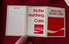Coca-Cola Bowling Scorecard Circa 1960. Unused. Nice Condition | eBay
