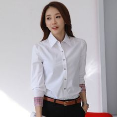 New Fashion Women Casual Shirts Lady Solid Blouse Size S-2XL Patchwork Single-Breasted Button Closure Clothing Fit Spring Autumn