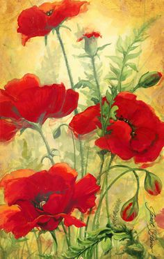 Oil Painting Style New Arrival Flower Diy Diamond Embroidery Painting Kits UK Watercolor Poppies, Red Poppies, Watercolor Paintings, Poppies Painting, Watercolors, Arte Floral, Beautiful Paintings, Painting Inspiration, Flower Art