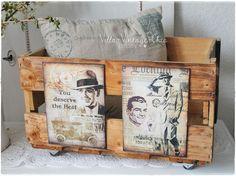 ~  Weinkiste ~ Holzkiste für den Herren von Villa-Vintage-Chic auf DaWanda.com