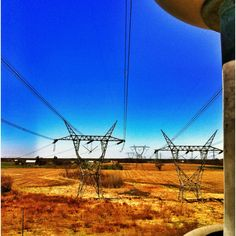 Looking down the 765kv lines.
