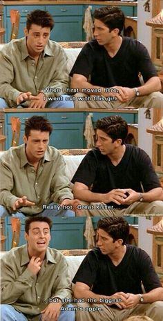 biggest Adam's apple... only Joey!