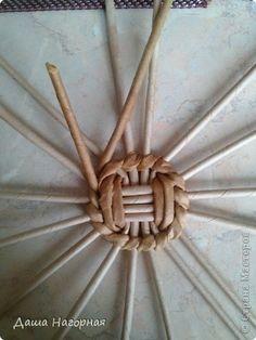 Мастер-класс Поделка изделие Плетение МК чашки Бумага газетная Трубочки бумажные фото 6