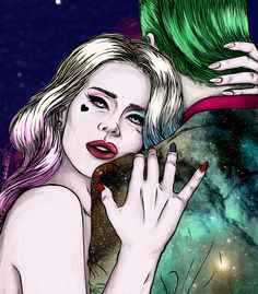 """he's an out-of-this-world kinda guy"" (Disclaimer: I do not ship Joker and Harley unless it's a reason for Harley to go back to Ivy. Abusive relationships are not to be romanticised but I like drawing..."
