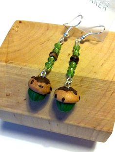 """Earrings """"MiniMuffin"""" http://melylefay.wix.com/avaloncreations"""