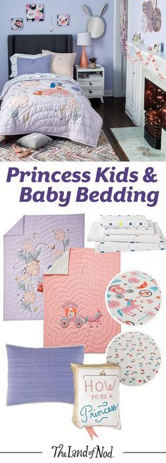 Need to design a girl's bedroom? Create a fun princess-themed room with princess bedding sets. From printed sheets and quilts to shams and duvets, these bright and colorful sets will create a cozy room for girls. Plus, all of our sheets are made from the finest 100% cotton (meaning your little ones will love to snuggle into super-soft comfort).