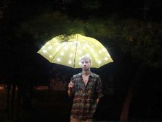 LED umbrella  http://www.apartmenttherapy.com/diy-led-umbrella-makes-a-brigh-133547