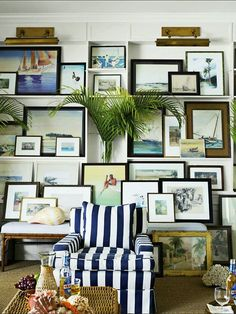 Why You Should be Afraid of Eclectic Gallery Art Walls - laurel home | fabulous layered art wall by Amanda Lindroth
