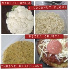 Best Cauliflower Pizza Crust! (grain and gluten free!) - going to make these one weekend