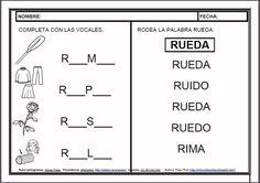 Kindergarten Activities, Preschool, Spanish Language, Speech Therapy, Phonics, Writing, Education, Math Equations, Reading