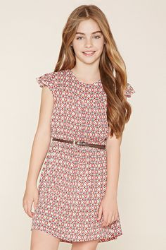 Girls Belted Dress (Kids) | Forever 21 girls - 2000185900