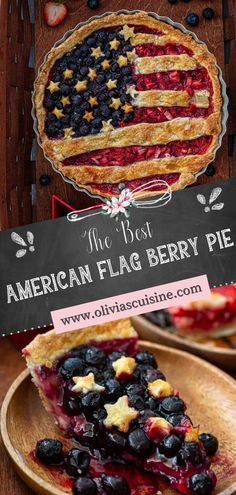 American Flag Berry Pie   www.oliviascuisine.com   Nothing says summer like a delicious berry pie! And if you're making dessert for 4th of July (or Memorial Day), why not do an American Flag lattice pie to celebrate? I can't think of anything more patriotic! This easy American Berry Pie recipe is delicious and instagrammable! #berrypie #americanflag Pie Crust Recipes, Tart Recipes, Berry Pie, Sweet Tarts, Pie Dessert, American Flag, Berries, Pumpkin, Breakfast