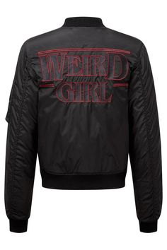 Weird Girl MA1 Bomber Jacket by KILLSTAR. Available online now!