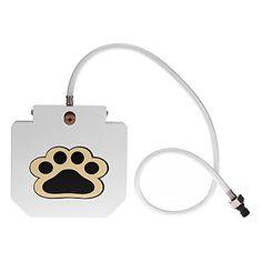 Anself – Bebedero de Mascotas de Manera Pisada, Fuente Potable para Perros de Acero Inoxidable con Manguera – Comprar Gangas