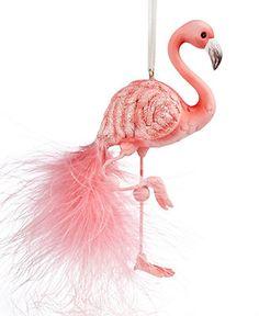 Kurt Adler Christmas Ornament, Flamingo