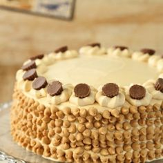 3 Layer of moist chocolate cake topped with smooth peanut butter frosting