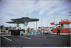 Esso gas station in Scarborough Ontario 1970s. I guess they sold lawn chairs too?