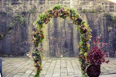 Autumn wedding arbour inspiration.