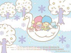 【2009.02+03】Calendar Wallpaper ★Little Twin Stars★